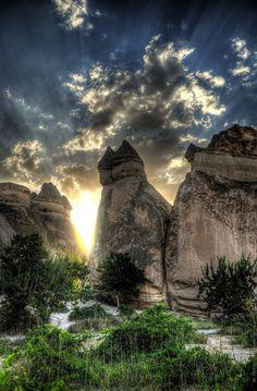カッパドキアの妖精の煙突(トルコ)