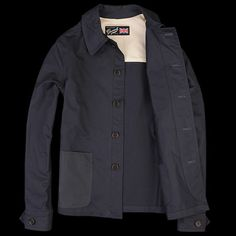 I think all the guys in Sad Jackal would wear this.  UNIONMADE - Gloverall - Work Jacket in Dark Navy