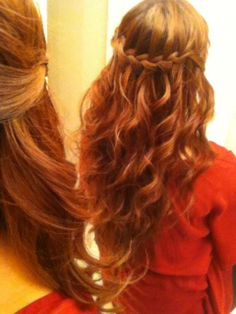 Waterfall and braid - Celtic princess hairstyle.--I want to learn how to do this!