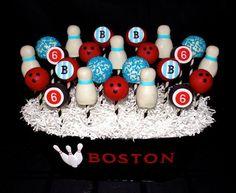 Retro Bowling Cake Pops Cake by CuteologyCakes