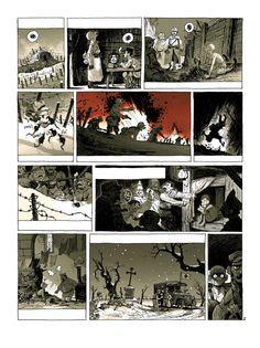 French comics artist, Creative director in a video game company (Ubisoft). Comics Love, Bd Comics, Comic Book Pages, Comic Books, Comic Frame, Sacre, Comics Story, Comic Panels, Drawing Techniques