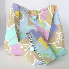 Handbag made from a skirt an a man's shirt