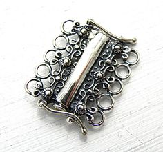 Sterling Silver 5 Strand Tube Clasp Sterling Silver Jewelry Supply Jewelry Findings Jewelry Clasp(Etsy のmidnightinsavannahより) https://www.etsy.com/jp/listing/111855482/sterling-silver-5-strand-tube-clasp