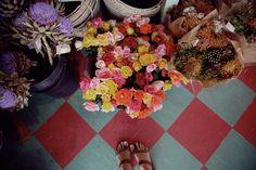 Sandals & Summer flowers.