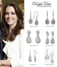 Kate Middleton Style Inspiration. SHOP repliKates of Links of London Hope Egg earrings