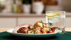 Bulgur Wheat Salad: This bulgur wheat salad gets a little kick with balsamic-marinated chicken.