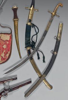 Sabre oriental d'officier de mamelucks ayant appartenu au chef de bataillon