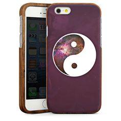Yin Yang Universe für Wooden Case (dunkel) für Apple iPhone 6 von DeinDesign™