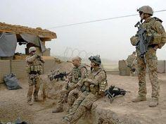 German Bundeswehr army soldiers in Afghanistan