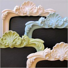 pretty pastel home accents - frames - chalkboards