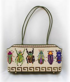 It's not your Grandmother's Needlepoint: Jul 18, 2010 (I love embroidered insects SO MUCH. ~RB)