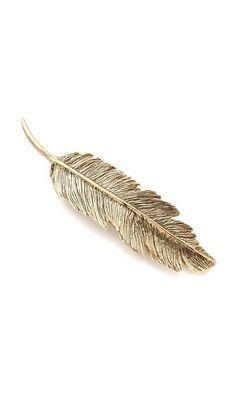 feather barrette   Visit www.wedloop.com for fresh wedding idea's!