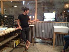 Industrial desiner Adam Kalderon, explains the process. WalkTalk design tour South TLV