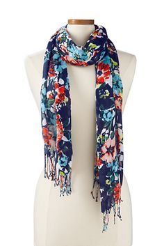 Lands End floral scarf