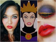 Evil Queen Makeup - not sure about the red lining...getting ready for the lit society ball =)