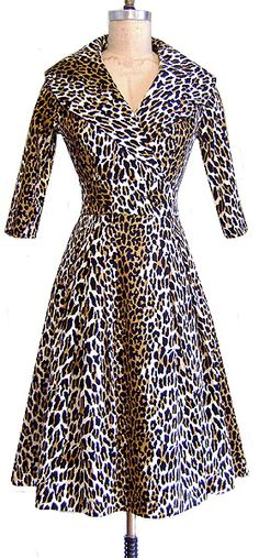 I really need to curb my leopard print hoarding but I'd make an exception for this...    Courtney Coat Dress from Trashy Diva