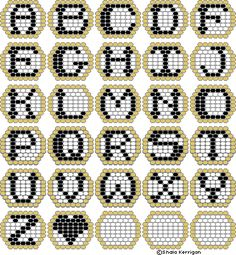 Peyote Beadwork Patterns Free Printable | patterns they work up really fast 20x20 beads elvish alphabet
