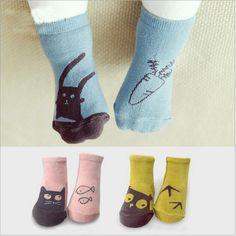 Unisex New born Baby Socks Kids floor sock baby boys socks girls kids Children cutu animal Rabbit cat pattern socks cotton