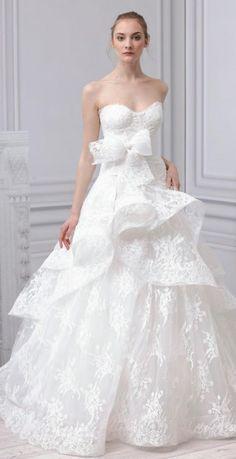 Monique Lhuillier 2014 wedding dress Paris, Belle