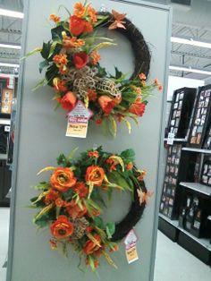Orange spring wreath s