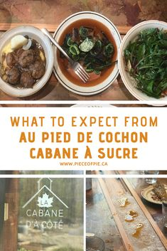 Chef Martin Picard's seasonal sugar shack offers traditional Quebec recipes with a twist.  Hie Cabane d'à cote gives you a intimate sugar shack experience you won't want to miss.   #cabanasucre #sugarshack #aupieddecochon #cabaned'acote #maplesyrup #sugaringoff #maple #springtime