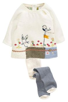 Buy Ecru Bunny Tunic and Tights Set (0mths-2yrs) online today at Next: Turkey