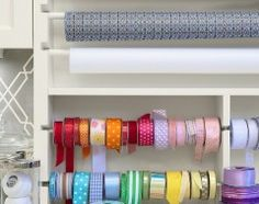 ribbon and wrapping paper organizer