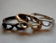 Nerd Glasses Ring
