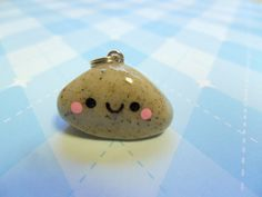 Kawaii Charm Polymer Clay Pet Rock- more of a chance than a dog bug :(