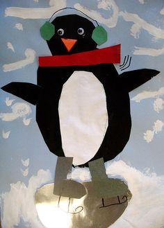 Skating Penguins-Kindergarten Art
