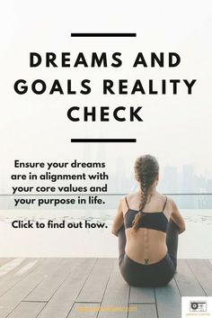 Your dreams and goals should be in alignment with your core values and your purpose in life. If they aren't, the result will be internal conflict. Click to find out how you can determine if you are in alignment! Self-Assessment | Self-Discovery | Personal Growth | Personal Development | Self-Improvement