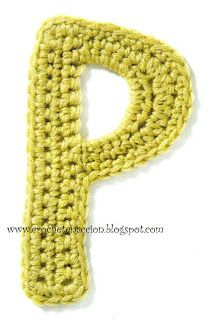 Crochet letters for kids learning the alphabet!