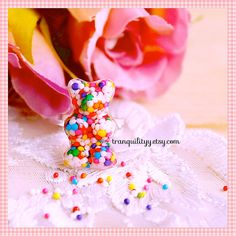 Gummy Bears Rings Candy Sprinkle Resin Ring  by tranquilityy