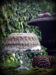 Vorige week vond ik bij De Kringloper een tulbandvorm . Die leek me perfect voor het maken van een vogelvoer- taart . Dus vogelvoer geha...