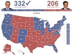 2012 Electoral Map.