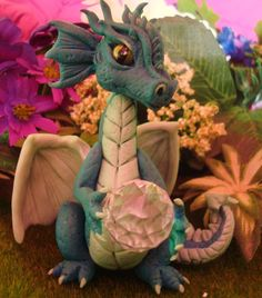 polymer clay dragon crash by crazylittlecritters.deviantart.com on @deviantART