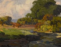Hanson Puthuff (1875 – 1972). Smiling Rivulet. Oil on board 17.5 x 21.5 in
