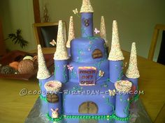 Coolest Three Tier Castle Birthday Cake... This website is the Pinterest of birthday cake ideas