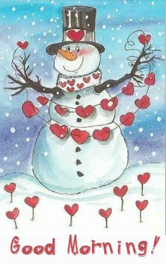 * ♥..¸¸.•♥ Good morning hearts snowman...:) Grateful for this Sunday day.