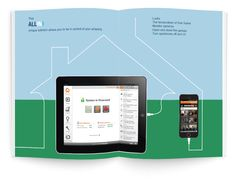Brochure design for Exeq Control, home security & management technology