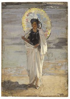 ☂ Paper Lanterns and Parasols ☂ Japonisme Art and Illustration - Sir John Lavery | Study for 'Summer, 1903