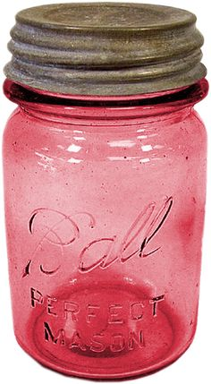 Did you know that Mason jars were patented in 1858 by Philadelphia tinsmith John Mason? Early colored glass jars were considered better for food preservation. Does anyone collect the antique Mason (also known as Ball) jars?