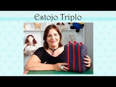 Como fazer um Estojo Triplo de Tecido - YouTube Clutch Pattern, Backpack Pattern, Hand Lettering Alphabet, Fabric Bags, Pencil Pouch, Pattern Making, Diy Fashion, Diy And Crafts, Patches