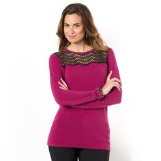 Jersey tacto cachemir y encaje Bell Sleeves, Bell Sleeve Top, Tunic Tops, Blouse, Long Sleeve, Club, Women, Fashion, Lace