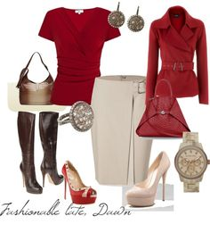 """""""Love me Some Red"""" by momfor2girls ❤ liked on Polyvore"""