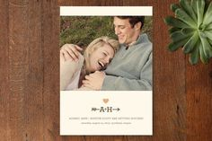 love struck Save the Date Cards by The Social Type at minted.com