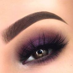 Eye Makeup - You need some ideas of really pretty makeup for summer? we have a big variety of cute pictures for you. The choice is yours! - Ten Different Ways of Eye Makeup Purple Eye Makeup, Smokey Eye Makeup, Makeup For Brown Eyes, Eyeshadow Makeup, Hair Makeup, Smoky Eye, Makeup Brushes, Purple Eyeshadow Looks, Purple Smokey Eye