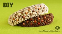How to make a Macrame Diamond Square Bracelet with Beads. Hope you will like it :) Please watch more beaded macramé bracelets in jewelry playlist: http://goo...