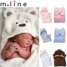 80*80cm Coral Fleece Baby Blankets Newborn Kids Baby Blanket Baby Wrap Boy&Girl Toddler Cartoon Bear Sleeping Bag(China (Mainland))