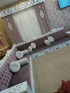 Living Room Setup, Living Room Sofa Design, Bedroom Bed Design, Home Room Design, Dream Home Design, Living Room Designs, Moroccan Room, Moroccan Interiors, Room Partition Designs